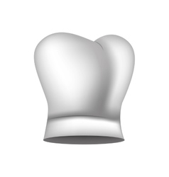 Realistic silhouette of chefs hat vector