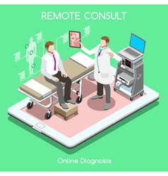Remote Doctor 01 People Isometric vector