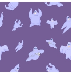 ridiculous and funny ghosts on Halloween vector image