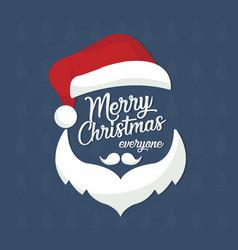 santa claus merry christmas postcard vector image