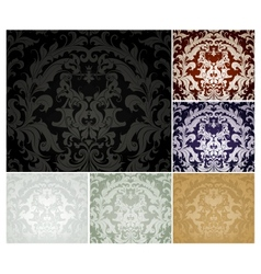 seamless wallpaper pattern set six colors vector image