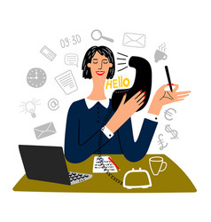 Secretary working vector