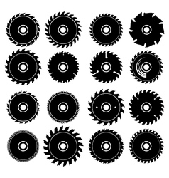 Set different circular saw blades vector