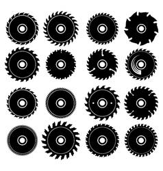 set different circular saw blades vector image