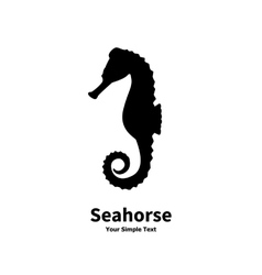 silhouette of a sea horse vector image