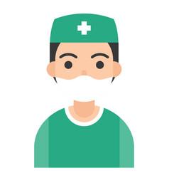 surgeon icon profession and job vector image