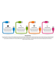 Technology options infographics template usb vector