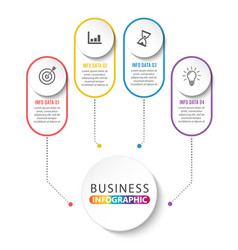 timeline infographics design and marketing icons vector image