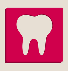 tooth sign grayscale version vector image