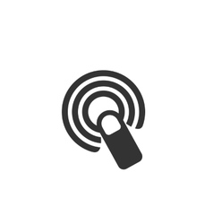 Touchscreen Icon logo on white background vector image