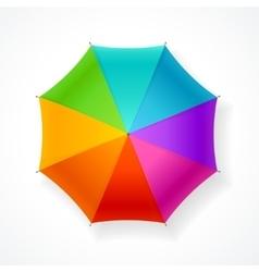 Umbrella rainbow vector