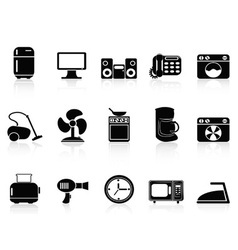 black home devices icons set vector image vector image