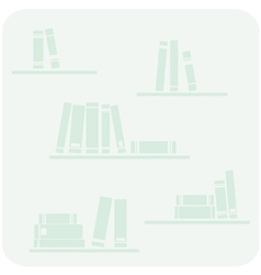 Books on the shelves hipster mint green button vector image vector image