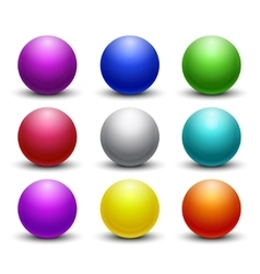 Colored glossy shiny 3D balls spheres set vector image vector image