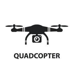 drone quadcopter camera black icon isolated vector image