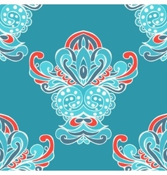 ethnic Damask flower seamless pattern background vector image