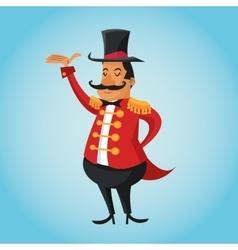 Presenter cartoon of circus vector image