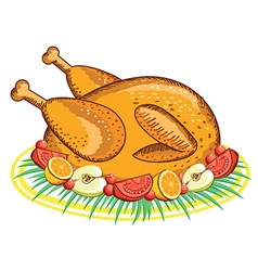 Thanksgiving Turkey food vector image vector image
