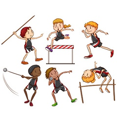 A sketch of the different outdoor activities vector image