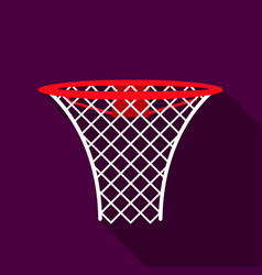basketball hoop icon flate single sport icon from vector image