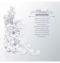 Bindweed on a gray background vector image
