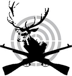 Deer hunt vector image