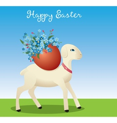 Easter lamb vector image vector image