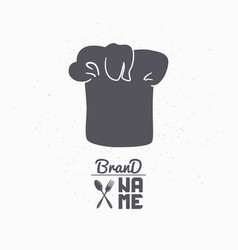 hand drawn silhouette of chef hat vector image vector image