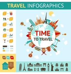 Travel Infographics Set vector image