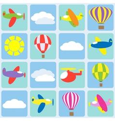 Air transportation vector image vector image