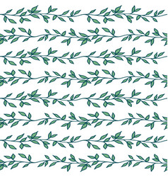 decorative hand drawn floral seamless pattern vector image