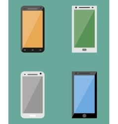 Flat collection of modern mobile phones vector image vector image