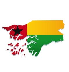 guinea bissau africa map flag vector image vector image