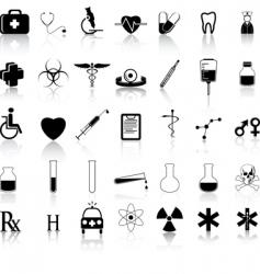 medical black vector image vector image