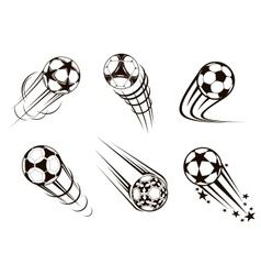 Soccer and football emblems vector