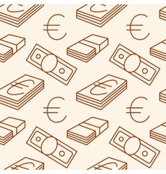 Currency seamless pattern Euro signs Texture vector image