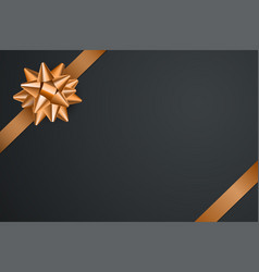 gold ribbon with bow isolated vector image