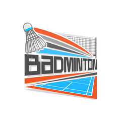 Logo for badminton vector