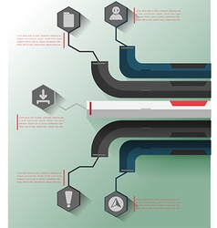 Modern Info Graphic Template Business vector image