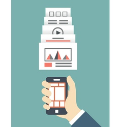 Responsive web design of mobile application vector image vector image