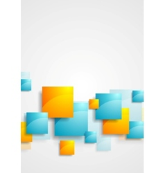 Shiny glossy squares abstract tech background vector image vector image