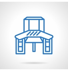Work table blue line icon vector image vector image