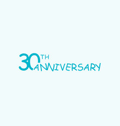 30 anniversary logo concept 30th years birthday vector image