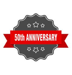 50th anniversary label 50th anniversary isolated vector