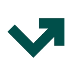 Arrow angle turning to right icon vector image