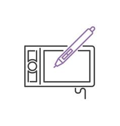 art icon design linear vector image