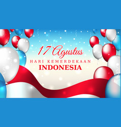 August 17 independence day indonesia indonesian vector