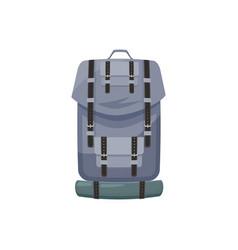 backpacking equipment object travel bag back pack vector image