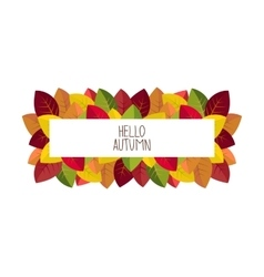 Banner advertising and autumn vector image