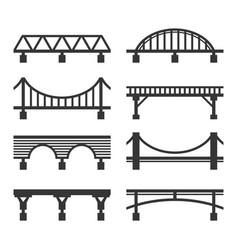 Bridge icon set on white background vector